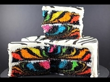 RAINBOW ZEBRA CAKE | How to...