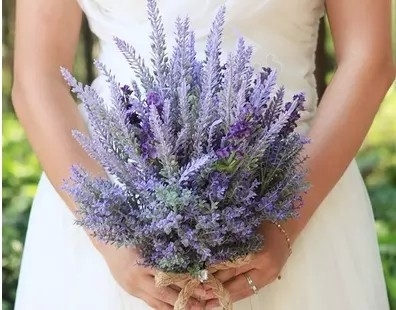 Classic Handmade Simulation Lavender Flower Wedding Flowers Bridal Bouquets Decorative Flower