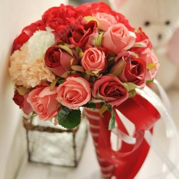 Simulation Roses Flower Bouquets Wedding Flowers Bridal Bouquets Decorative Flower
