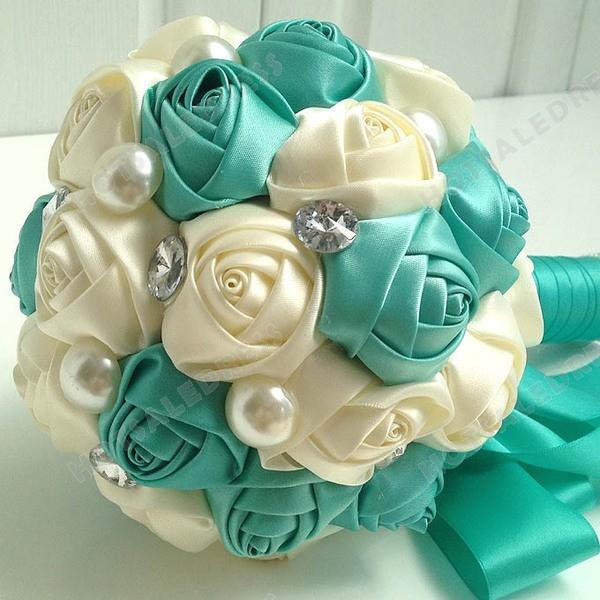 Beaded Simulation Roses Flower Bouquets Wedding Flowers Bridal Bouquets Decorative Flower