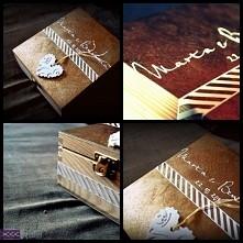 Ręcznie zdobione pudełko na...