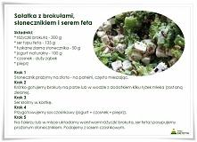 sałatka z brokułami, słonec...