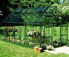 Duża szklarnia ogrodowa do uprawy roślin Halls Magnum Green z przesuwanymi dr...