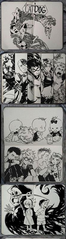 Postaci z kreskówek w mangowym wydaniu :)