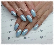 Gel LaQ Oops! + efekt syrenki   Nails by Olga, Studio Magnetic Nails, SPN Nai...