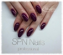 Aubergine   Nails by Monika, Studio Magnetic Nails, SPN Nails Team