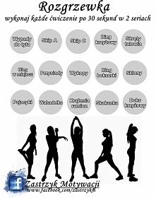 Rozgrzewka - opis ćwiczeń blogu: zastrzykm.blog.pl
