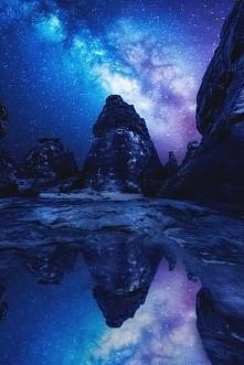 #woda #water #góry #mountain #drogamleczna #gwiazdy #stars #niebo #sky #krajobraz