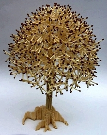 drzewko z zapałek