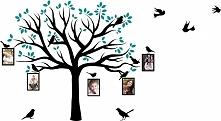 Naklejka ścienna drzewo genealogiczne ze zdjęciami – ptaszki, ramki na zdjęcia – NA-01(więcej informacji po kliknięciu na zdjęcie)