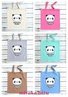urocze torby bawełniane z nadrukiem 'kawaii panda'- link do sklepu ...