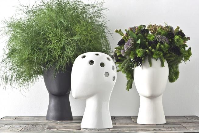 ••Wig Head Vase by Tania da Cruz