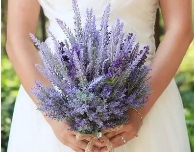 Classic Handmade Simulation Lavender Flower Wedding Flowers Bridal Bouquets Decorative Flower