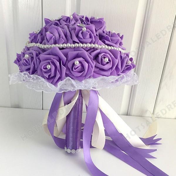 High-End Diamond Pearl Simulation Roses Flower Bouquets Wedding Flowers Bridal Bouquets Decorative Flower