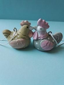 Figurki kurka i kogucik dostępne na allegro! link w komentarzu
