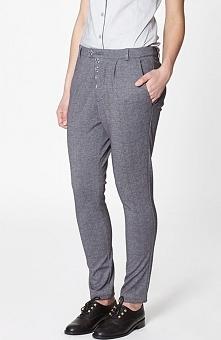 Click Fashion Arnis spodnie szare Dzianinowe spodnie w melanżowym kolorze, ob...