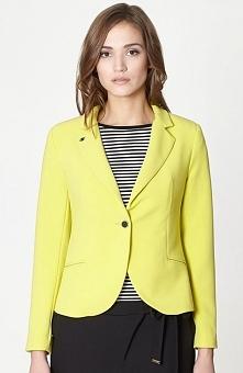 Click Fashion Bonny marynarka limonka Klasyczna marynarka, taliowany fason, d...