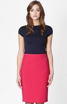 Click Fashion Seul spódnica fuksja Elegancka spódnica, ołówkowy fason, zaszew...