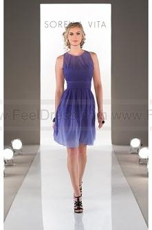 Sorella Vita Purple Ombre Bridesmaid Dress Style 8458OM