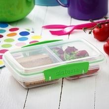 Pojemnik plastikowy na żywność dwukomorowy SISTEMA LUNCHBOX TO GO SMALL SPLIT GREEN 0,4 l