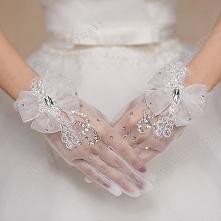 Wrist Length Fingertips Glove Spring Summer Lace Gloves
