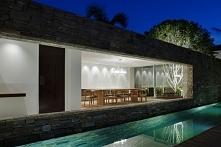 Piękna, stylowa jadalnia w nowoczesnym domu - jadalnia otwarta, przeszklona, ...