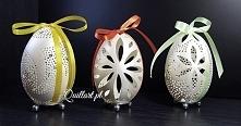 Wielkanocna ażurowa pisanka/ pisanki - naturalna gęsia wydmuszka (jajo) jako oryginalna ozdoba. Misterna koronka, ornament. Idealny prezent na Wielkanoc, Święta lub inne okazje....