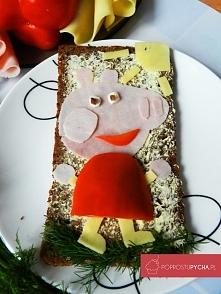 Dla fanów świnki Peppy! :)Prosta i szybka kanapka, która z pewnością ucieszy Twoją pociechę <3