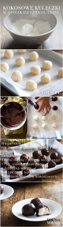 Kokosowe kuleczki w gorzkie...