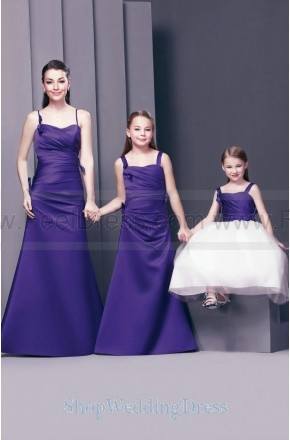 2013 Spaghetti Straps Ruched A Line Floor Length Bridesmaid Wedding Gowns
