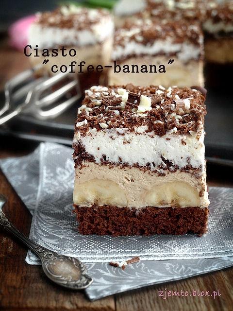 Ciasto bananowo-kawowe.