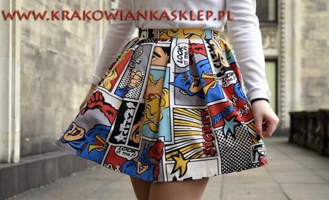 spódnica kolorowy komiks krakowianka   sklep