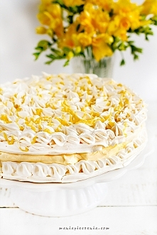 Tort cytrynowo-bezowy przepis po kliknieciu w zdjęcie, maniapieczenia.com