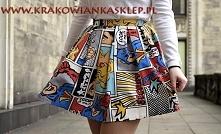 spódnica kolorowy komiks kr...