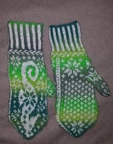 Ręcznie wykonane rękawiczki...