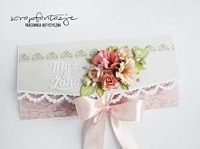 kartka ślubna kopertówka
