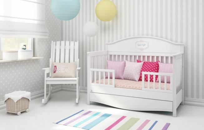 Łóżeczko Bellamy Good Night z imieniem dziecka