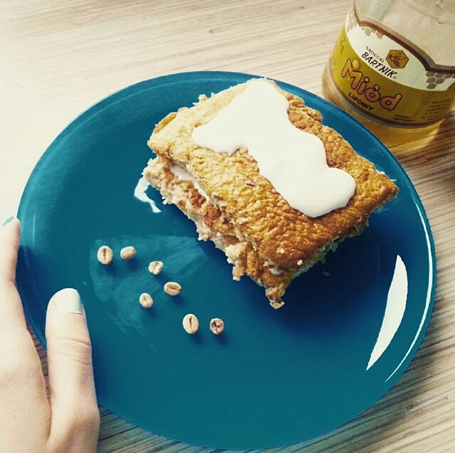 Kanapka bananowa mleczna zamiast chlebka :) Zapraszam na bloga