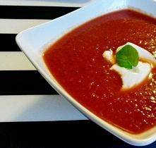 Intensywny krem z pomidorów  Aby poprawnie wyświetlić bloga po kliknięciu w zdjęcie, wyłącz blokowanie skryptów