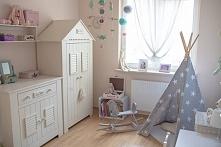 Tipi w pokoju dziecięcym