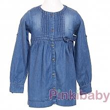 Propozycja dla starszej damy. Bluzka Tunika z miękkiego jeansu z kokardką