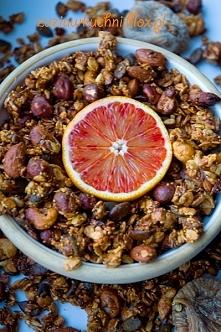 Granola figowo - pomarańczowa