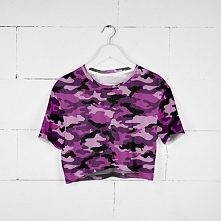 T-shirt Crop Pink Soldier