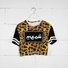T-shirt Crop Fullprint Miau