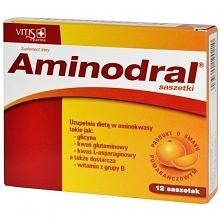 Aminodral, proszek do sporządzania płynu nawadniającego, 12 saszetek