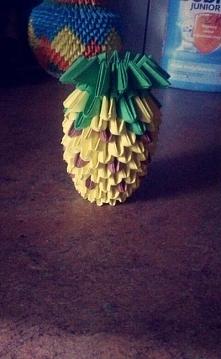 Ananas wykonany techniką origami 3D :) jak się podoba?