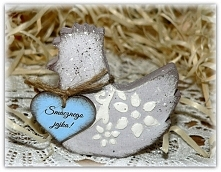 Rustykalna kurka Wielkanocna z życzeniem od serca:). W razie zainteresowania ...