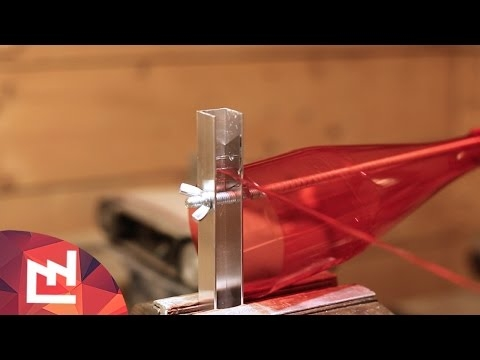 DIY Project: plastic bottle recycler / cutter  Zrób sobie mocne linki z plastikowej butelki