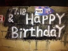 Happy Birthday - graffiti Malta