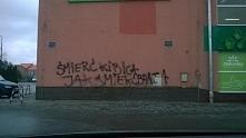 Śmierć kibica - graffiti Jelcz-Laskowice